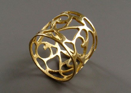 Gold filigree band, 14K or 18K